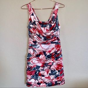 Express rouched floral dress size 4